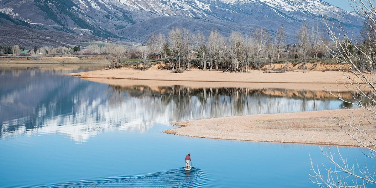 paddle boarding in ogden valley play
